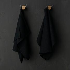 Set de 2 Black Mano Toallas de Lino Terra