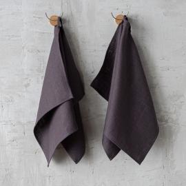 Paños de Cocina de Lino Grey Lara