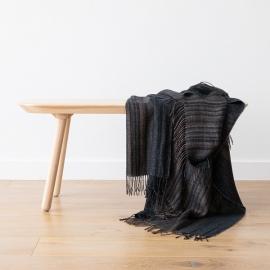Tejido de lino de rayas negras Paolo