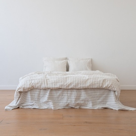 Natural Edredon de Lino Stripe Washed