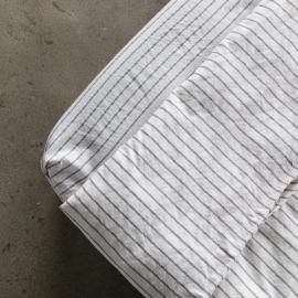 Graphite Sábana Encimera de Lino Stripe Washed