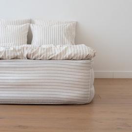 Natural Sábana Encimera de Lino Stripe Washed