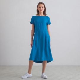 Sea Blue Vestido de Lino Adel