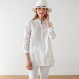 Blanca Camisa de Lino Paolo