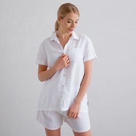 Blanco Pijama de Lino Emilia