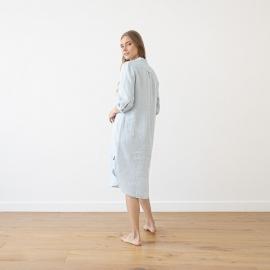 Sky Blue Melange Camisón de Lino Veronica