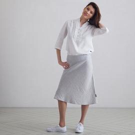 Silver  Melange Falda de Lino Alma