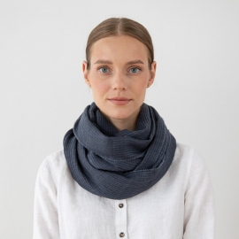 Bufanda de Lana Azul Fabiene