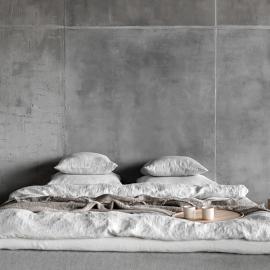 Edredon de Lino Silver Stone washed Rhomb