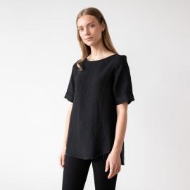 Negro Camisa de Lino Luisa