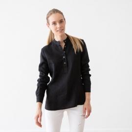 Black Camisa de Lino Toby