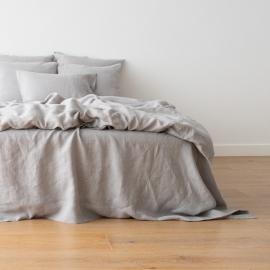 Cool Grey Edredon de Lino Crushed
