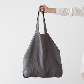 Bolsa de compras de lino Terra Graphite