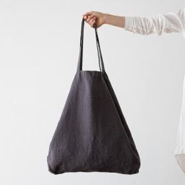 Bolsa de compras de lino Terra Grey