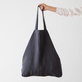Bolsa de compras de lino Terra Charcoal
