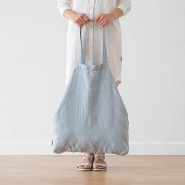 Bolsa de compras de lino Terra Ice Blue