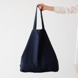 Bolsa de compras de lino Terra Navy