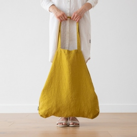 Bolsa de compras de lino Terra Citrine