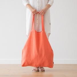 Bolsa de compras de lino Terra Coral