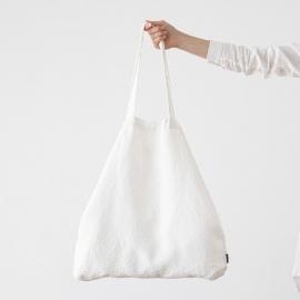 Bolsa de compras de lino Terra Optical White