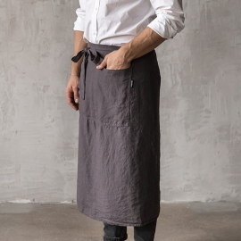 Dental de Chef para hombre de Lino Grey Stone washed