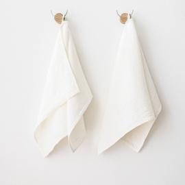 Toallas de Invitadoss de Lino Off White Twill