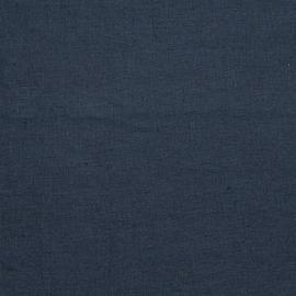 Muestra de Tela de Lino Navy Upholstery