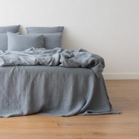 Slate Blue Conjunto de Cama de Lino Crushed