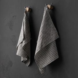 Paños de Cocina de Lino Black Natural Brittany