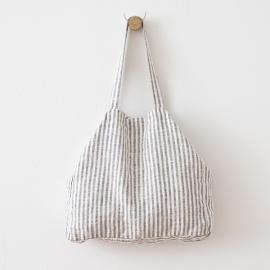 Bolsa de playa de lino Brittany Graphite