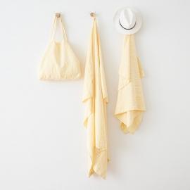 Toalla de Playa de Lino Brittany Yellow