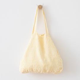 Bolsa de playa de lino Brittany Yellow