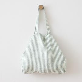 Bolsa de playa de lino Brittany Aqua Foam