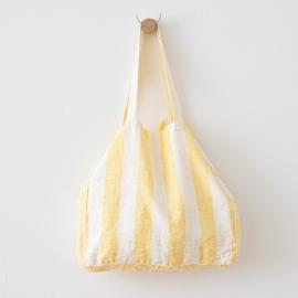 Bolsa de playa de lino Philippe Yellow