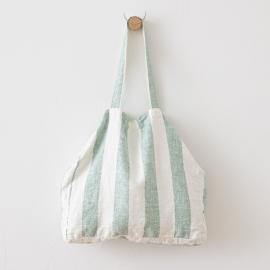 Bolsa de playa de lino Philippe Aqua Foam